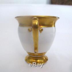 1892 Tsar Alexander III Imperial Russian Antique Porcelain/ Ceramic Cup & Saucer