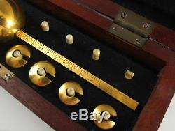 1900s Imperial Russian Gold Plated ALCOHOL METER Hydrometer for spirits in Box