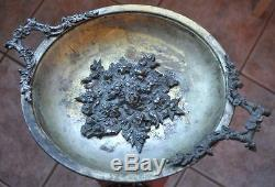 19th Cen Imperial Russia Poland Warsaw Large Silverplated Hallmarked Bowl Dish