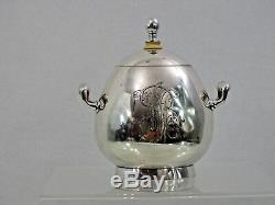 ANTIQUE IMPERIAL RUSSIAN 84 SILVER SUGAR BOWL Faberge Workmaster Erik Kollin EGG