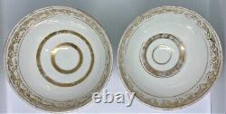 ANTIQUE PAIR of IMPERIAL RUSSIAN' KUZNETSOV' PORCELAIN BOWLS. 19th. Century