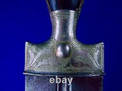 Antique 19 Century Imperial Russian Russia 1896 Engraved Kindjal Dagger Knife