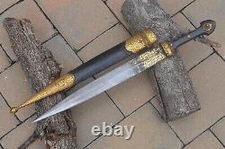 Antique 19th C Georgian Kindjal Caucasian Dagger Russian Imperial Gold Dagger