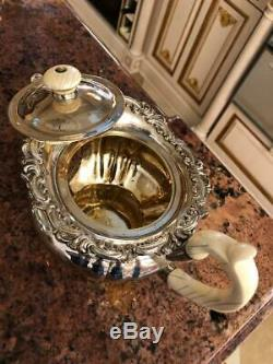 Antique 19thC Imperial Russian Solid Silver 4PS Tea&Coffee Set, Sazikov c1839