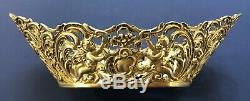 Antique Imperial Russian 84 Silver Repousse Basket (Faberge)