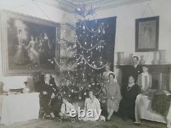 Antique Imperial Russian Christmas Photo Grand Duke Kirill Romanov King Bulgaria