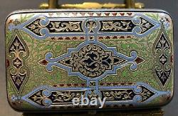 Antique Imperial Russian Enamel Silver Cigarette Case (Ovchinnikov)
