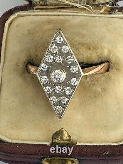 Antique Imperial Russian Faberge 14k 56 Gold Diamond Ring Author's work