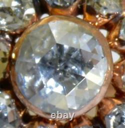 Antique Imperial Russian Faberge 2.20ct Diamonds gold earrings set. Original box