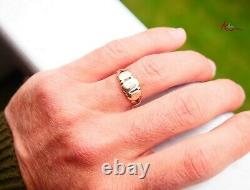 Antique Imperial Russian Faith Love Hope Ring solid 56 14K Gold Ø 8.5 US / 2.7gr