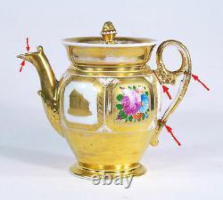 Antique Imperial Russian Gardner Porcelain Teapot circa 1810