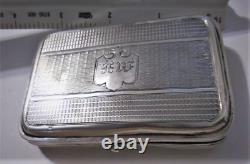 Antique Imperial Russian Mark 84 Silver Cigarette Case Mono MK