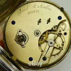 Antique Imperial Russian Masonic silver pocket watch by Perret&Muller c1870's