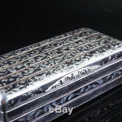 Antique Imperial Russian Niello Silver Snuff Box 1842