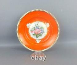 Antique Imperial Russian Porcelain Floral Plate by Kuznetsov Factory in Budah