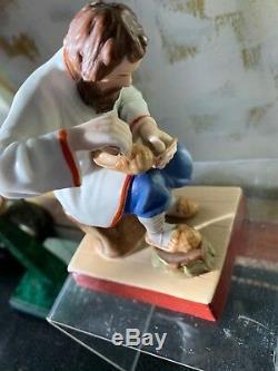 Antique Imperial Russian porcelain Gardner manufactory figure bast shoe maker