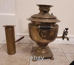 Antique Mikhail Tulyakov Samovar from Imperial Russia. Unique shape. RARE