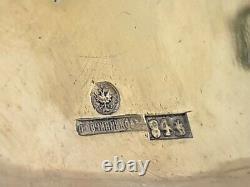 Antique OVCHINNIKOV Imperial Russian 84 Silver Cigarette Case Vesta Snuff Box RU