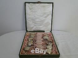 Antique RUSSIAN IMPERIAL silver 84 set of 12 teaspoon in the original box