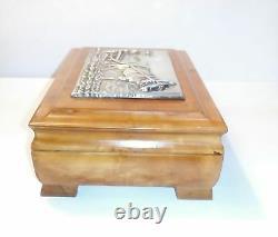 Antique Russian Imperial 84 Silver & Wood Box Ivan Khlebnikov