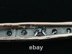 Antique Russian Imperial Art Nouveau Deco Gold Mine Diamond Brooch Pin Pendant