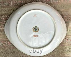 Antique Russian Imperial Porcelain Kornilov Kornilow Brothers Curved Dish