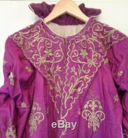 Antique Russian Imperial Silk Seed Pearl Gold Brocade Renaissance Ballets Russe