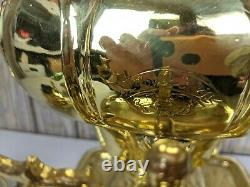 Antique Salisheva of Tula Imperial Russian Brass Samovar 1904 stamp with Tray