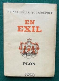Antique Signed Book Imperial Russian Prince Felix Yusupov in Exile Rasputin