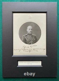 Antique Signed Imperial Russian Photo Murdered Grand Duke Sergei Provenance