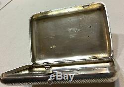 Authentic Russian Imperial Silver 84 Niello Cigarette Case Essay Mark 1896
