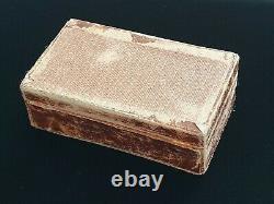 BOLIN Antique Imperial Russian European Cufflinks Earings Presentation Case Box