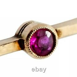 FABERGE Imperial Russian Gold Brooch 14K Rare Antique Pin Ruby Pearl Jewelry RU