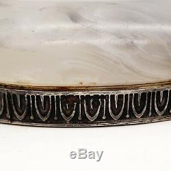 FABERGE Workmaster Imperial Russian 84 Silver 88 White Siberian Agate Hardstone