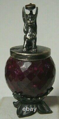 Faberge Winged Lion 84 Silver Imperial Russian Opal-Flashlight
