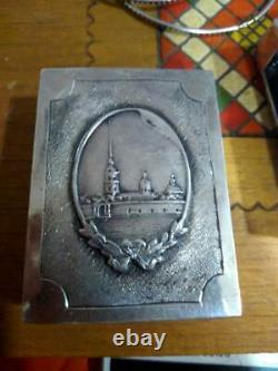 Imperial Antique Russian Sterling Silver 84 Matchstick Case Catherine II 36.11gr