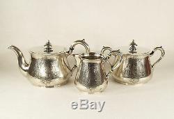 Imperial Antique Sazikov Russian 84 Silver Tea Set