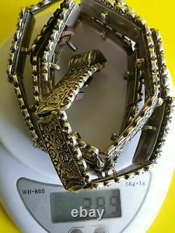Imperial Russia. Silver. Russian. Caucasian Belt With Niello. 84. 389gram
