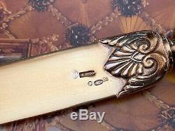 Imperial Russian 84 Silver Large Letter Opener Marked Karl Faberge