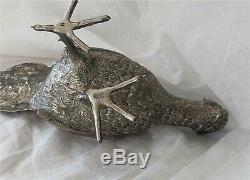 Imperial Russian 84 Silver Pheasant bird figure Faberge Antique 720gr $4500+
