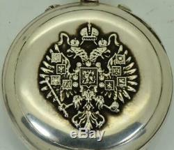 Imperial Russian Army Omega RATTRAPANTE Split Second CHRONOGRAPH silver watch