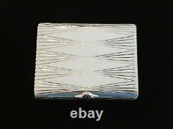 Imperial Russian OVCHINNIKOV 84 Silver Cigarette Pill Snuff Case Box FABERGE Era