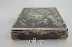Imperial Russian / Russia Niello Silver Snuff Box Moscow 1816