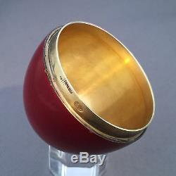 Imperial Russian Silver 84 Enamel Glazed Vermeil Egg Container By Grahev