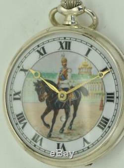 Imperial Russian WWI officer award silver Omega Digital seconds watch&Violin box