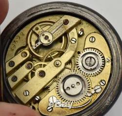 Imperial Russian army Officer's award Moon Phase Calendar Gunmetal&Enamel watch