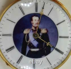 Imperial Russian award 18k gold&enamel pocket watch in box. Tsar Alexander II