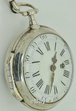 MUSEUM 18th C Imperial Russian Cathrine II award silver Verge Fusee Oignon watch