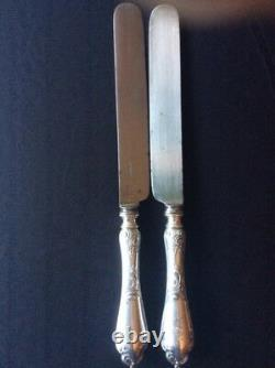 Old Original Knifes Faberge Silver 84 Russian Imperial Antique Russia