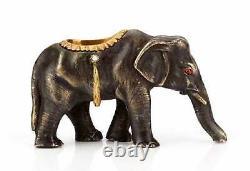 RUSSIAN IMPERIAL GOLD & SILVER ELEPHANT, H. W. Henrik Wigstrom